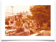 Straight Light vs. Harbor Inn staff baseball game, 1977