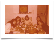 Dinner, Warren st. band house Grand Rapids, MI 1978